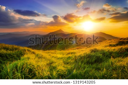 Beautiful Landscape and Clouds #1319143205