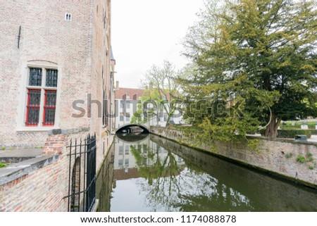 Beautiful landscape around Bonifacius Bridge at Brugge, Belgium #1174088878