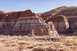Beautiful landscape around Toadstool Hoodoos at Utah