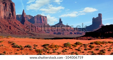 Beautiful landscape at Monument Valley, Arizona, usa