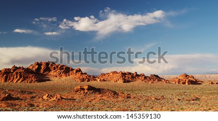 Beautiful landscape at Valley of fire in Nevada, USA