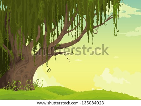 Beautiful Landscape Background (EPS vector version id 134790692,format also available in my portfolio)
