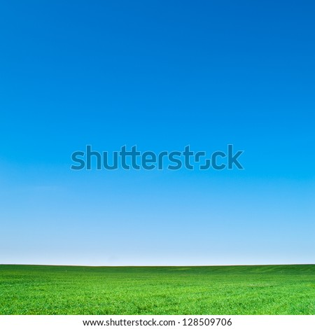 beautiful landscape, clean blue sky #128509706