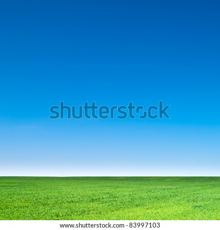 beautiful landscape, clean blue sky