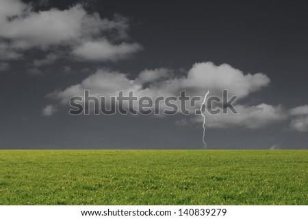 Beautiful Landscape dark and thunder