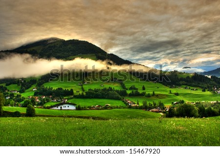 Beautiful Landscape from Tyrol Alps in Austria