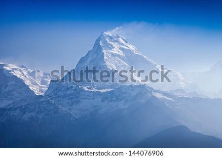 Beautiful landscape in Himalays, Annapurna region, Nepal #144076906