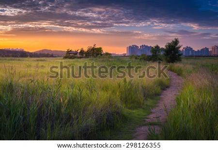 Beautiful landscape in South Korea,Sorae ecology wetland park