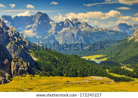 Beautiful landscape in the Dolomites,Sudtirol,Italy,Europe #172245227
