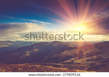 beautiful landscape in the...