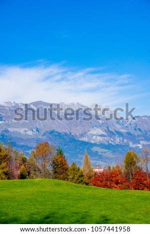 Beautiful landscape in the Swiss Alps