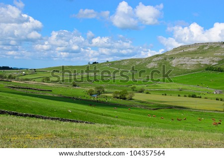 Beautiful landscape in the  Yorkshire Dales, England