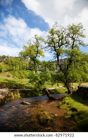 Beautiful landscape in Yorkshire Dales National Park in England