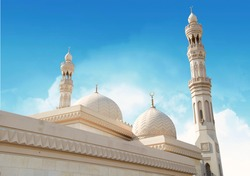Beautiful Landscape mosque, Islamic background Mosque