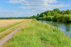 Beautiful landscape near Gütersloh in East Westphalia, Ems river, Germany