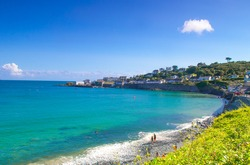 Beautiful landscape of Coverack, a small seaside town situated in Cornwall, United Kingdom.