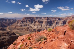beautiful landscape of Grand Canyon (with colorado river)