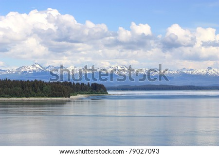 Beautiful landscape of Inside Passage, Alaska