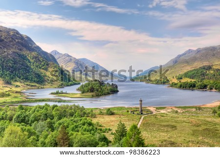 Beautiful landscape of  Loch Shiel in Glenfinnan, Scotland