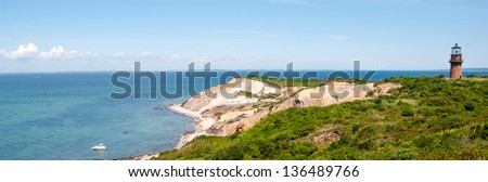 Beautiful landscape of Marthas Vineyard Island, Massachusetts.