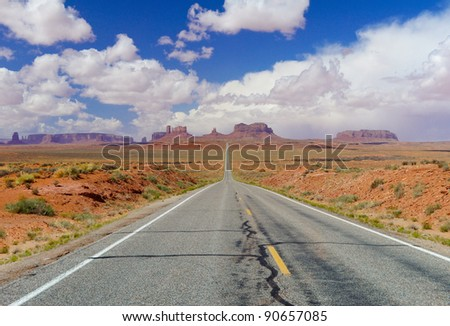 Beautiful landscape of Monument Valley, USA