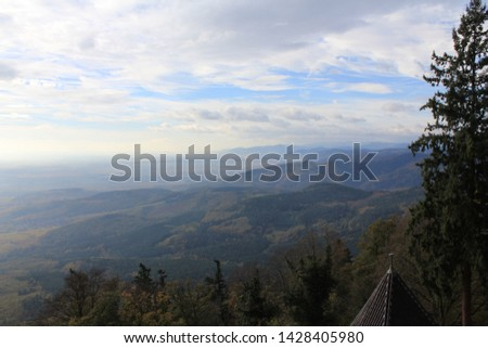Beautiful Landscape of mountain in the morning #1428405980