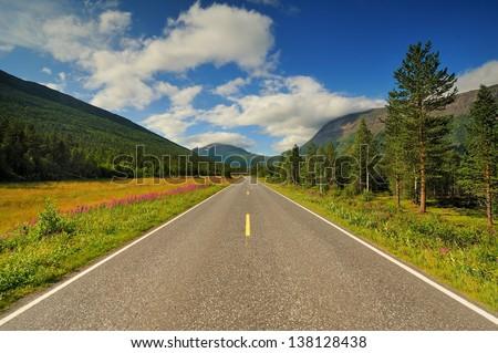 Beautiful landscape of Norway, Scandinavia Zdjęcia stock ©
