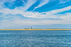 Beautiful landscape of ocean beach Cape cod Massachusetts