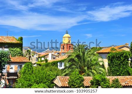 Beautiful landscape of Saint-Tropez, France