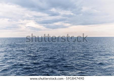 Beautiful landscape of sea and sky. #591847490