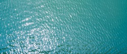 Beautiful Landscape of Sea or Ocean in The Afternoon in Summer, Travel or Nature Background, Seto Inland Sea in Kagawa Prefecture in Japan, Aerial View from Flying Drone