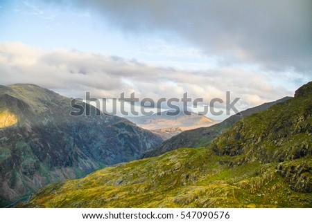 Beautiful landscape of Snowdonia National Park, Wales, United Kingdom