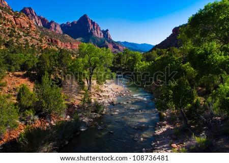 Beautiful landscape of Zion National Park,Utah
