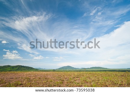 Beautiful landscape on mountain