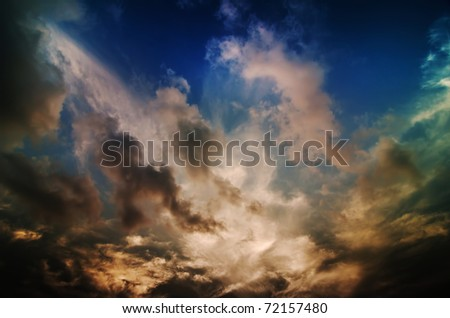 beautiful landscape outdoor in nature with clouds