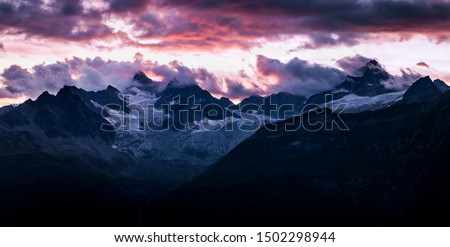 Beautiful Landscape Photograph of Swiss Alps, Zermatt