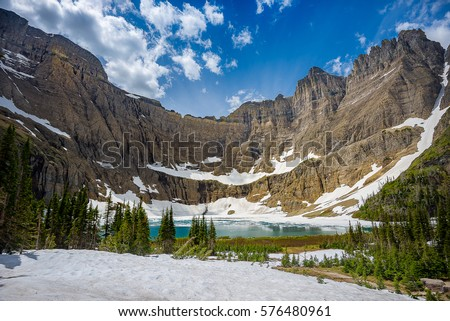 Beautiful landscape photography in Glacier National Park Montana #576480961