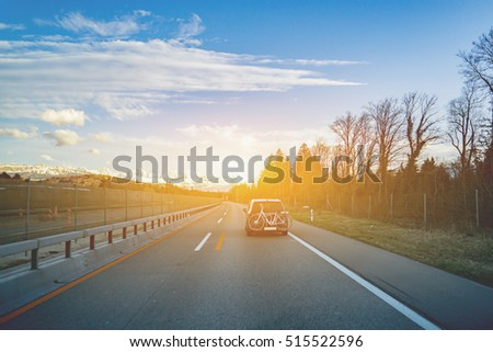 beautiful landscape  road and...