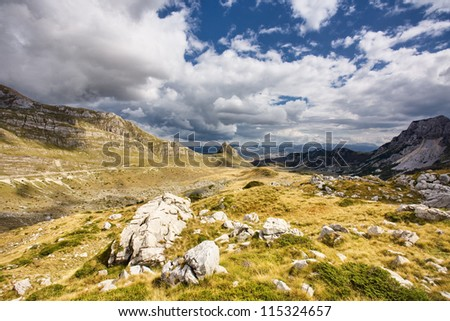 Beautiful landscape the mountain
