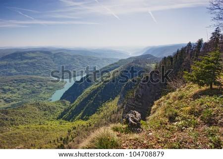 beautiful landscape the river