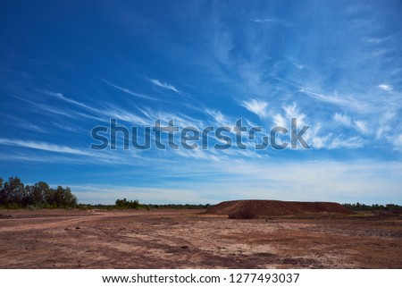 Beautiful Landscape With Blue Sky In Winter Season, Ubonratchathani Province, Thailand #1277493037