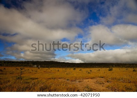 beautiful landscape with cloudy background