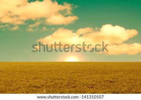 Beautiful landscape with the sunrise #141310507
