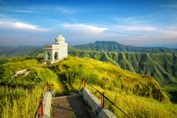 Beautiful Landscape with way of Chulgiri Temple, Bawangaja, Barwani, Madhya Pradesh, India.