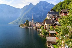 Beautiful Landscapes in Hallstatt, Famous Travel Destination in Austria