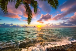 Beautiful Lanikai, Kailua Sunrise in Hawaii