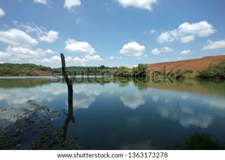 Stock Photo beautiful lanscape with reflection on a lake