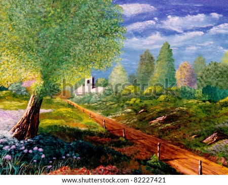 Beautiful Large scale Original Oil Painting On Canvas
