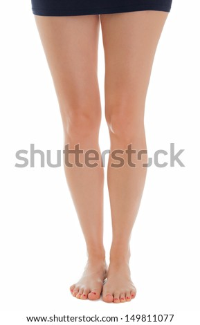 Beautiful legs of a woman standing