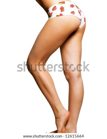 beautiful legs of the girl